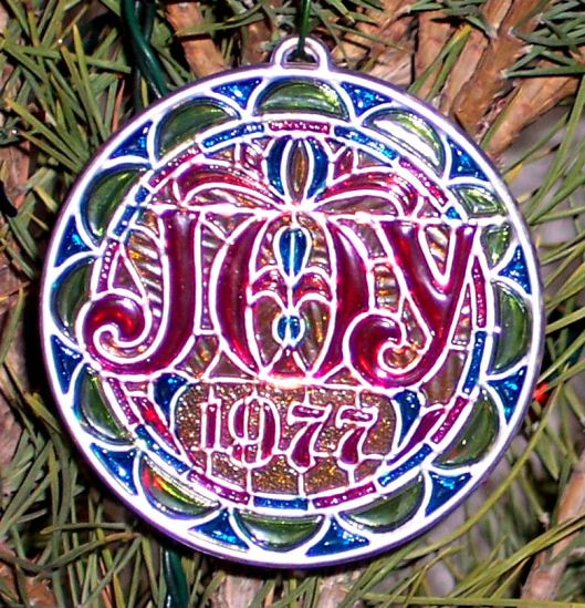 """JOY - 1977"" Tree Ornament"