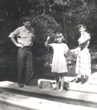 Fishing with my parents as a girl